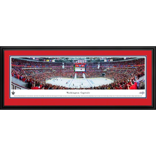 Blakeway Worldwide Panoramas, Inc NHL Washington Capitals - Center Ice by Christopher Gjevre Framed Photographic Print