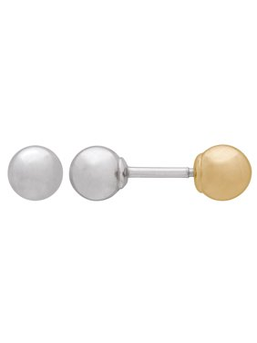 53717cb278 Product Image Kids  10K Yellow and White Gold Front and Back 4mm Ball Stud  Earrings. Simply Gold