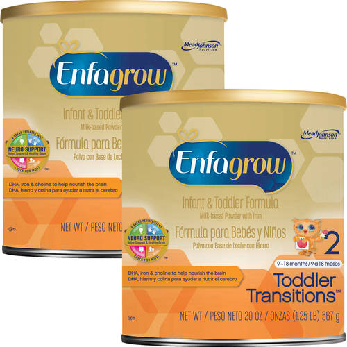 Enfagrow Toddler Transitions Gentlease Infant and Toddler Formula -- 20 oz Powder Can, Buy 2 Save