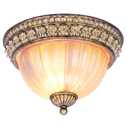 Livex Lighting  8817  Ceiling Fixtures  La Bella  Indoor Lighting  Flush Mount  ;Vintage Gold Leaf