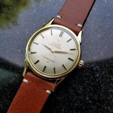 Omega Vintage Constellation Automatic 1960s Gold Cappd Mens Original Watch LV378