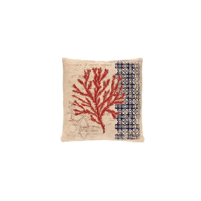 Heritage Lace CNW1818NA-0884 Coral Coast 18 x 18 in. Compass Pillow, Natural by Heritage Lace