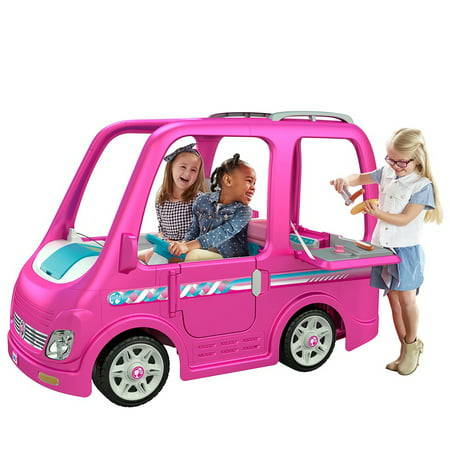 Power Wheels Barbie Dream Camper, Battery-Powered Ride-On Vehicle (Barbie Power Wheels Jeep Battery)