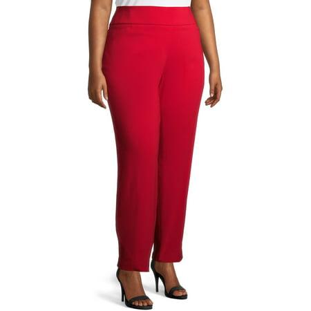 Terra & Sky Women's Plus Size Straight Leg Dress Pants