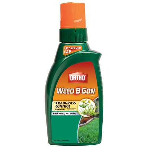 Ortho Weed B Gon MAX Plus Crabgrass Control Weed Killer for Lawns Concentrate, 32oz.