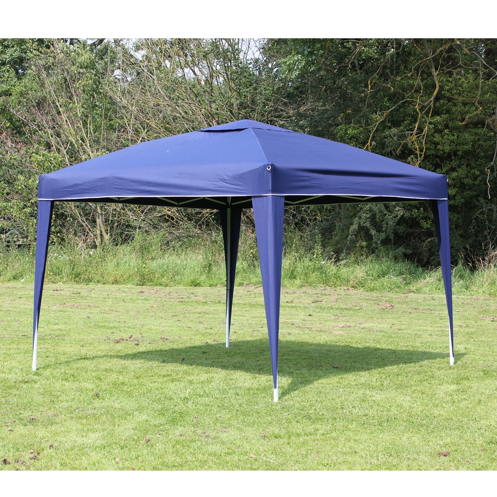10 x 10 Palm Springs EZ POP Up Blue Canopy Gazebo Party Tent New