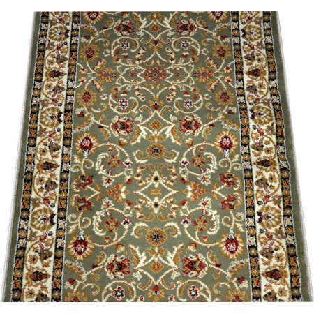 Dean Classic Keshan Sage Green Custom Length Carpet Rug