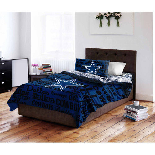 NFL Dallas Cowboys Bed in a Bag Complete Bedding Set - Walmart.com