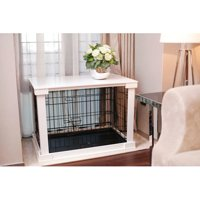 """Merry Products Dog Crate Cover, White, Medium, 21.65""""L x 32.98""""W x 23.27""""H"""