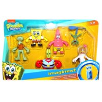 """Spongebob Imaginext Deluxe Figure Pack of 6 Figures 2.5"""" with Sandy"""