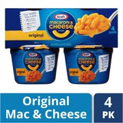 Kraft Easy Mac Original Flavor Macaroni and Cheese, 4 ct - 8.2 oz Package