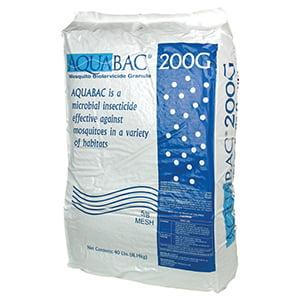 Granular Insecticide - AquaBac Granular 40lb- Mosquito Larva Killer Insecticide