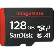 SanDisk 128 GB ImageMate microSDXC UHS-1 Memory Card with Adapter - C10, U1, Full HD, A1 Micro SD Card