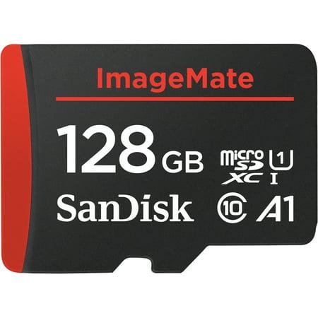 SanDisk 128GB ImageMate microSDXC UHS-1 Memory Card with Adapter - C10, U1, Full HD, A1 Micro SD Card - SDSQUAR-128G-AW6KA