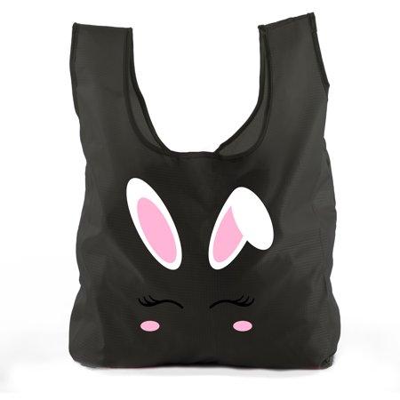 - Easter Basket Bags, Bulk Reusable Grocery Bags, Easter Egg Hunt Tote Bags - Bunny Face
