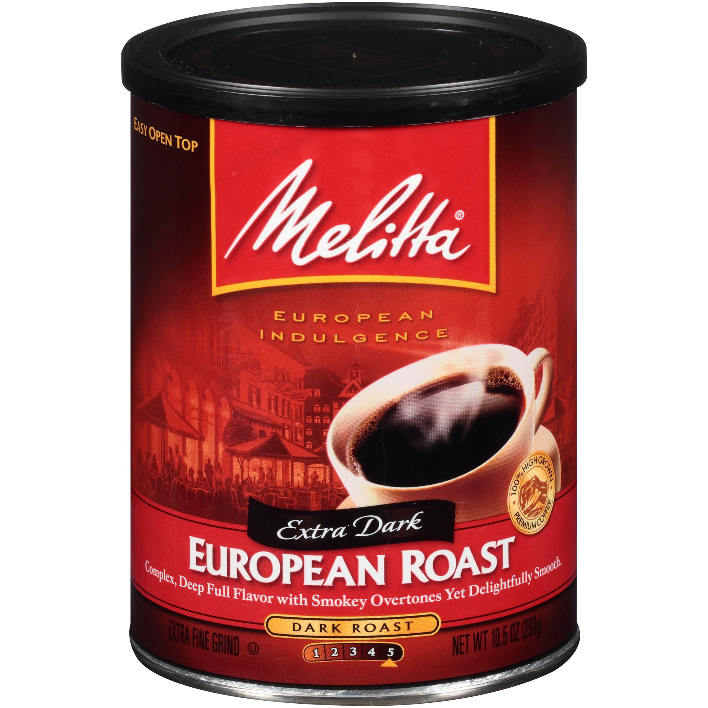 Melitta® European Extra Dark Roast Ground Coffee 10.5 oz. Canister