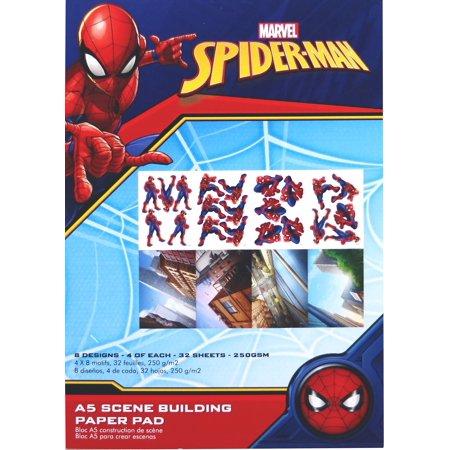 Marvel A5 Scene Building Pad 32/Pkg-Spider Man, 8 Designs/4 Each - image 1 of 1