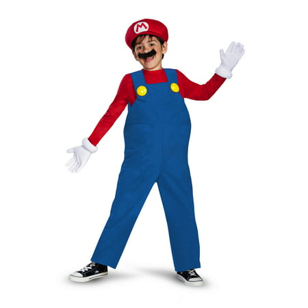 Disguise Boy's Nintendo's Super Mario Brothers Deluxe Costume Small 4-6 - Mario Costume For Women