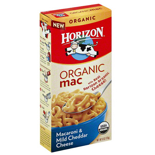 Horizon Organic Mac Macaroni & Mild Cheddar Cheese, 6 oz, (Pack of 12)
