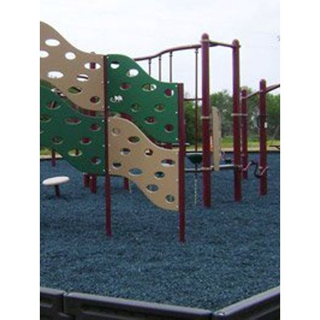 The Dirty Gardener 2,000 Pounds Rubber Mulch - Blue ()