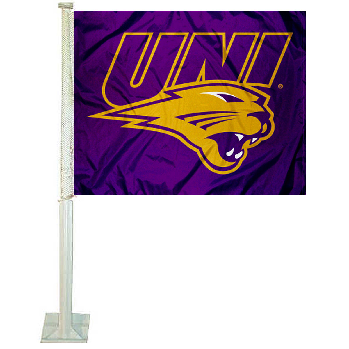"University of Northern Iowa 12"" x 15"" Car Flag"