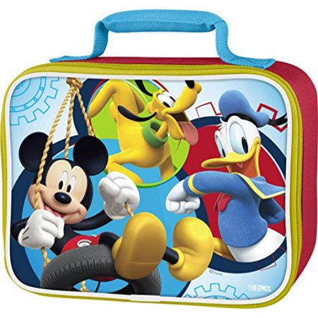Thermos Soft Lunch Kit, Mickey Mouse (Mickey Mouse Head Lunch Box With Thermos)