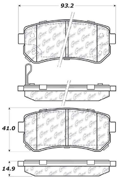 go parts oe replacement for 2006 2011 kia rio5 rear disc brake pad set for kia rio5 (touring gl) Kia Rio SX GDI
