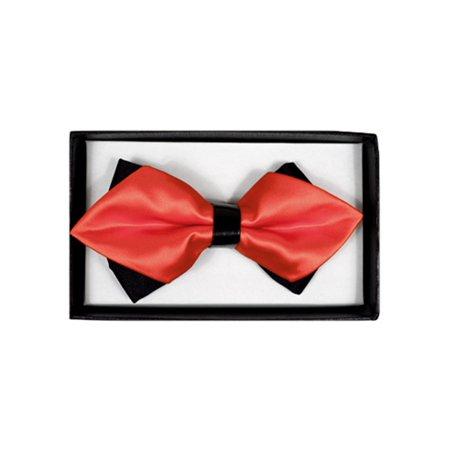 Men's Coral Solid Diamond Tip Bow Tie - DBB3030-43 ()