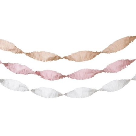 Pink Streamers (Talking Tables Tissue Paper Streamers, blush, gold and)