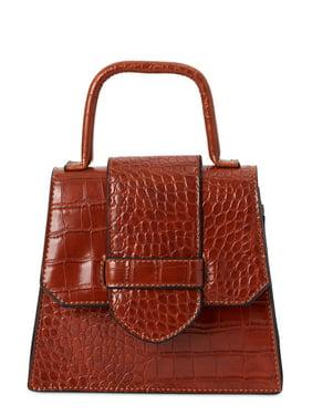 Scoop Women's Faux Croco Top Handle Mini Crossbody Bag