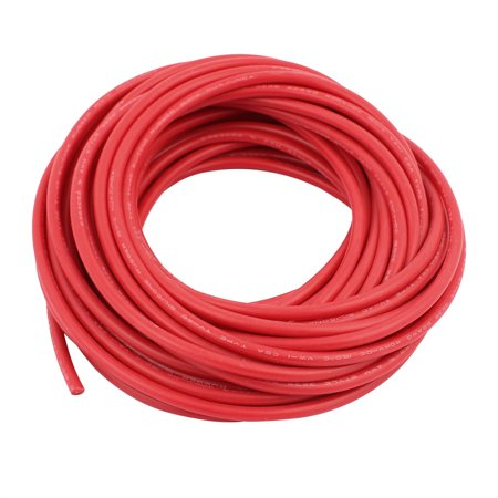 22AWG 40KV Electric Copper Core Flexible Silicone Wire Cable Red 12 Meter (Electric Wire)