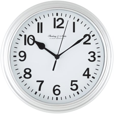 "Mainstays 8.78"" Basic Clock Silver"