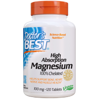 Doctor's Best High Absorption Magnesium 100 mg, 120 Tablets