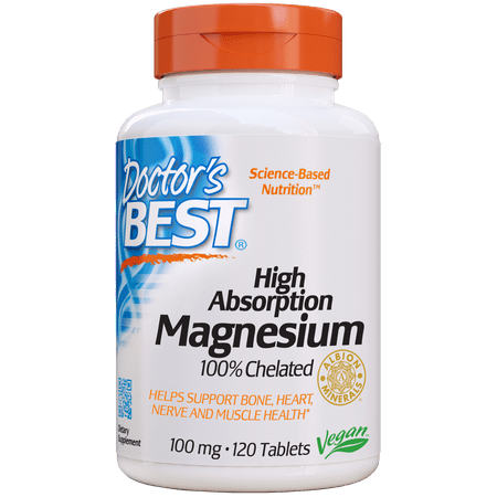 Doctor's Best High Absorption Magnesium 100 mg, 120 (Best Magnesium For Muscle Cramps)