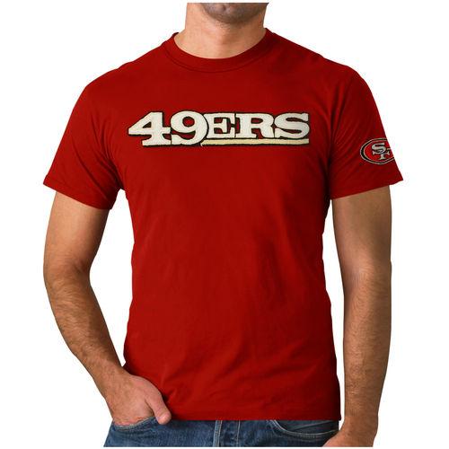 Men's '47 Brand Scarlet San Francisco 49ers Fieldhouse Double-Layer Applique T-Shirt