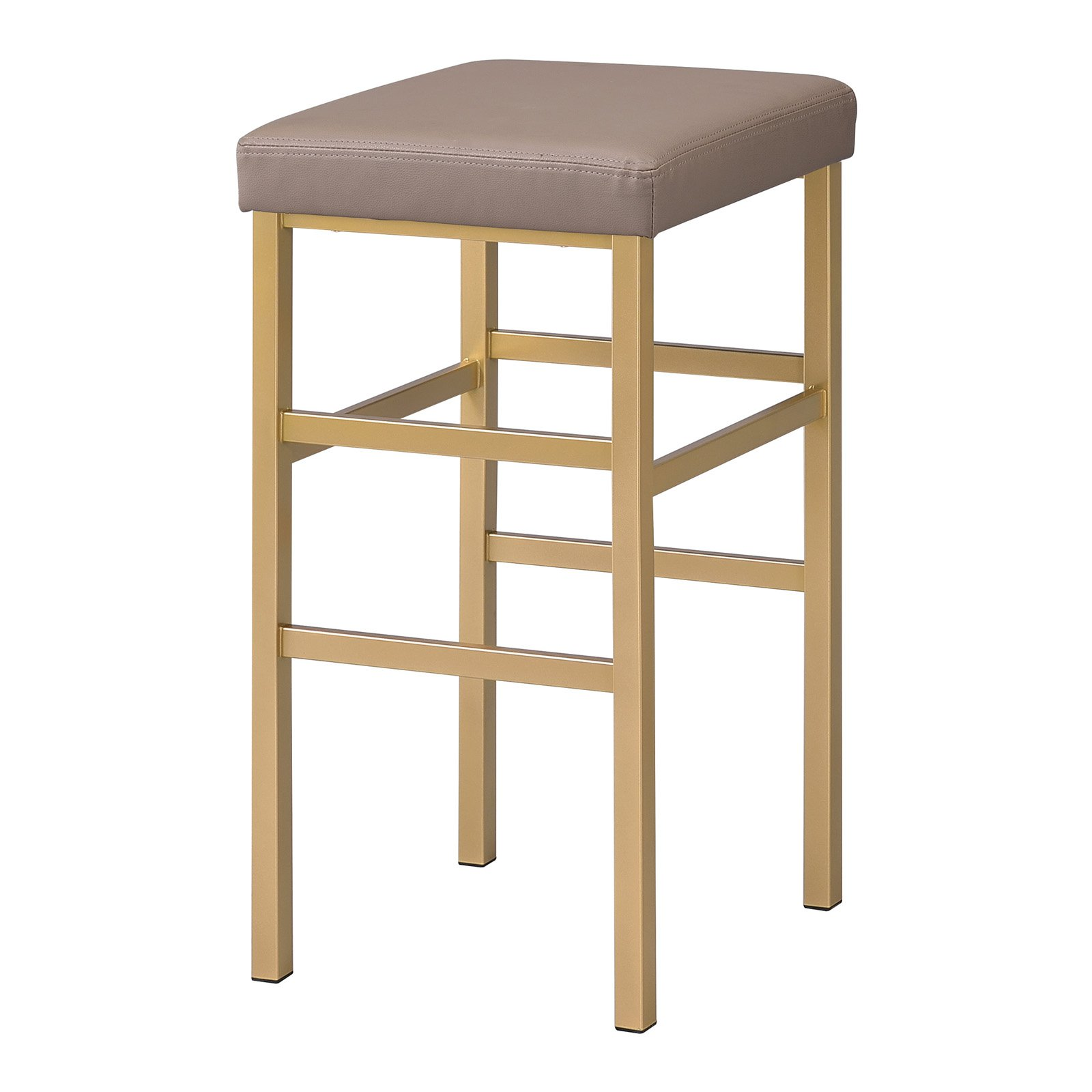 """30"""" Gold Backless Stool"""