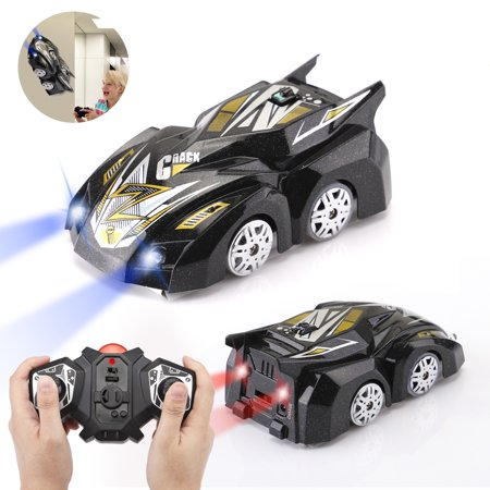 Morpilot Remote Control Cars for Kids Girls Boys RC Wall Climber Radio Remote Control Racing Car Climbing Racer LED Head Gravity-Defying, Kids Gift