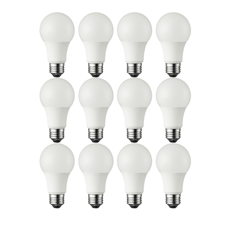 Great Value LED Light Bulb, 6W (40W Equivalent) A19 Lamp E26 Medium Base, Soft White, 12-Pack - Led Lights Bulk