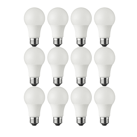Great Value LED Light Bulb, 6W (40W Equivalent) A19 Lamp E26 Medium Base, Soft White, 12-Pack