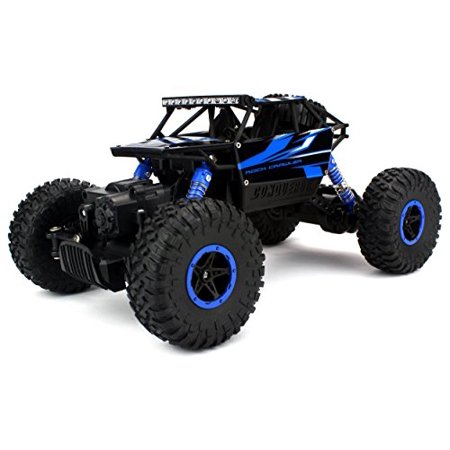 Velocity Toys Rock Crawler Remote Control Rc High Performance Truck 2 4 Ghz Control System 4Wd All Weather 1 18 Size Rtr  Colors May Vary