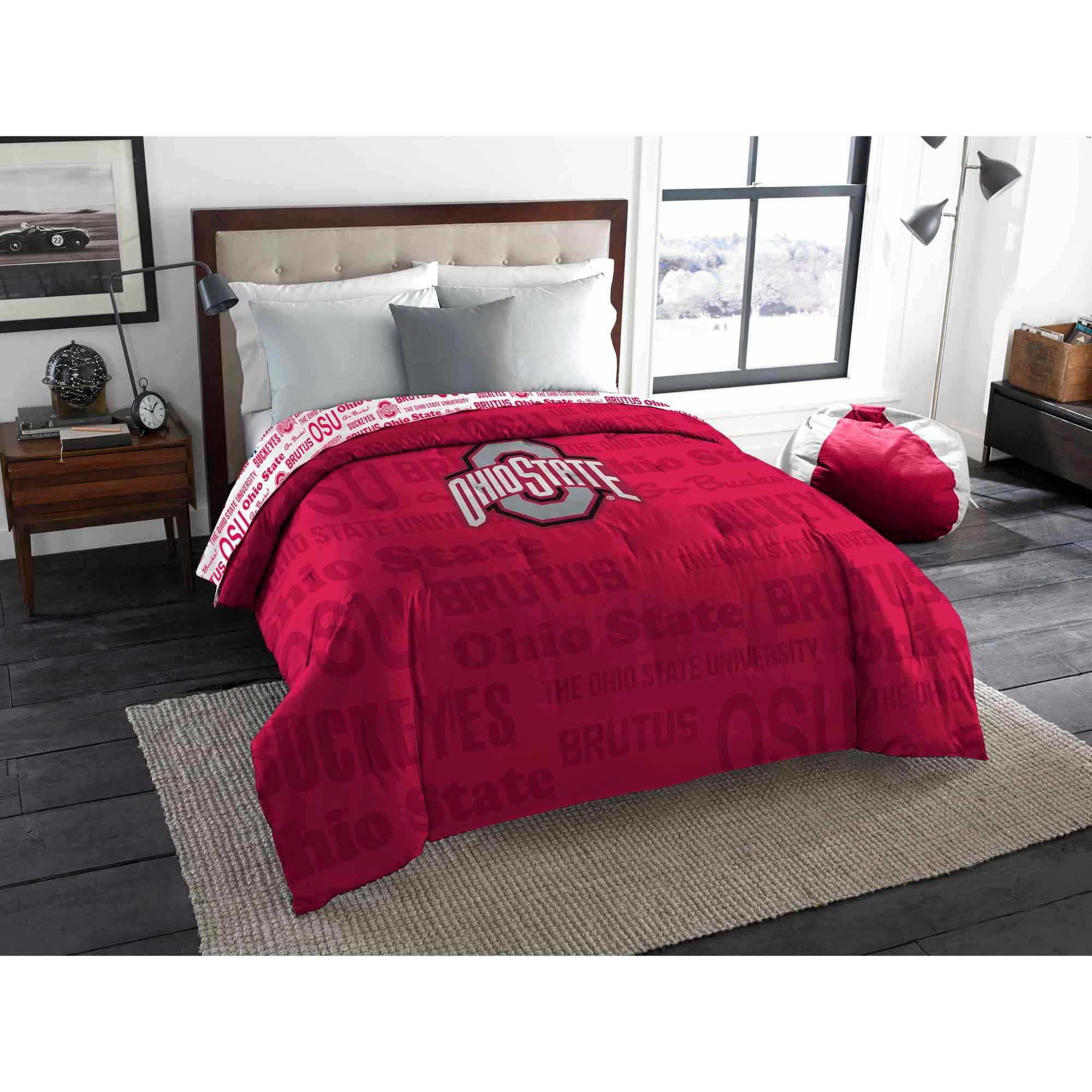 NCAA Ohio State Buckeyes TwinFull Bedding Comforter Walmartcom