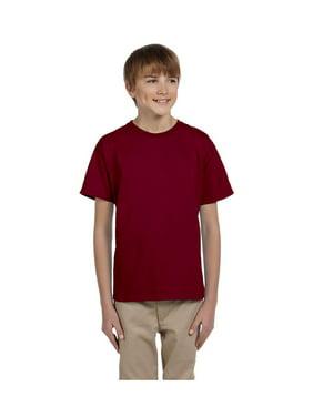 Fruit of the Loom Boys 4-12 Ribbed Collar Half-Sleeve T-Shirt