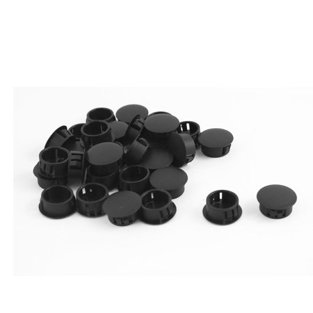 Unique Bargains 30 Pcs Plastic Snap in Type Locking Hole Plugs 19mm x 23mm x 10mm