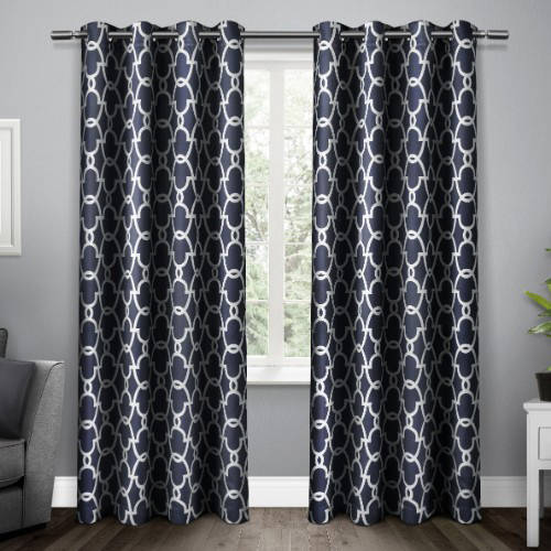 Exclusive Home Gates Sateen Blackout Thermal Window Curtain Panel Pair with Grommet Top by Amalgamated Textiles
