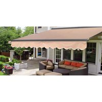 ALEKO 13'x10' Sunshade Half Cassette Retractable Patio Deck Awning, Multiple Colors
