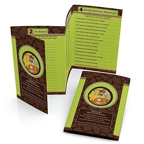Funfari - Fun Safari Jungle - Baby Shower Games Pack - 5 Games in 1 - Fabulous 5 - Set of 12