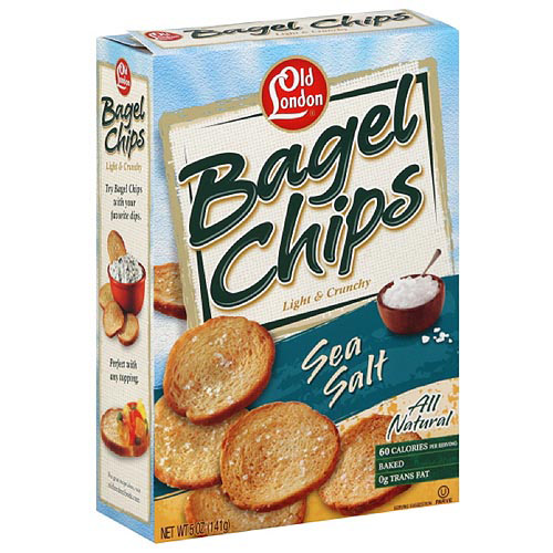Old London Original Bagel Chips, 5 oz (Pack of 12)