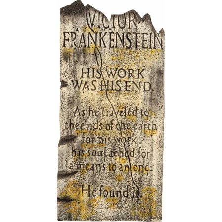 Victor F. Tombstone Halloween Decoration