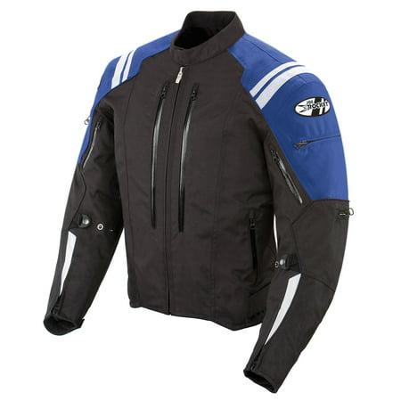 Joe Rocket Atomic 4.0 Mens Black/Blue Textile Motorcycle Jacket (Textile Motorcycle Jacket)