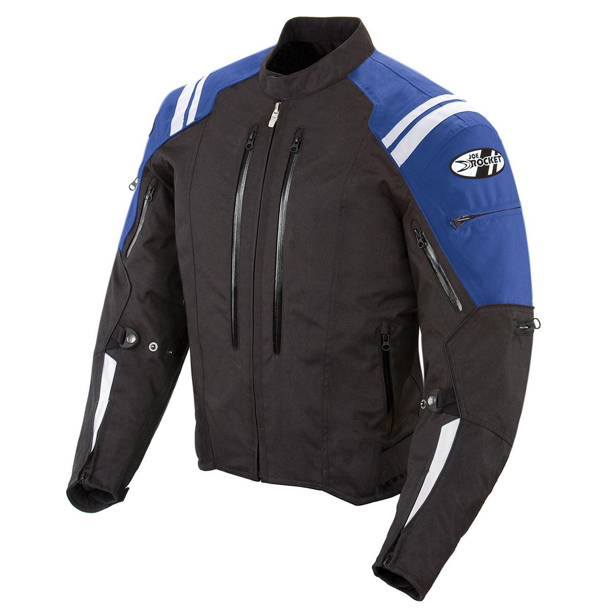 Joe Rocket Atomic 4.0 Mens Black/Blue Textile Motorcycle Jacket